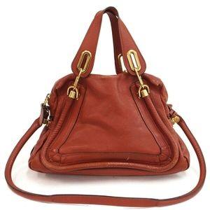 Auth Chloe Paraty Shoulder Bag Leather #1394C11